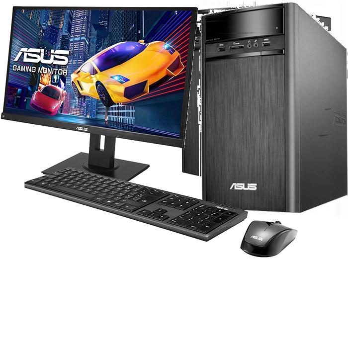 Asus Desktop PC met 24'' Monitor