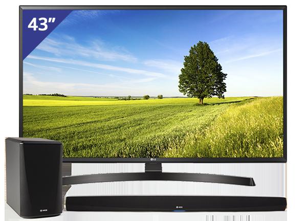 LG 43 inch/109 cm Ultra HD LED TV + HEOS HS2 Home Cinema