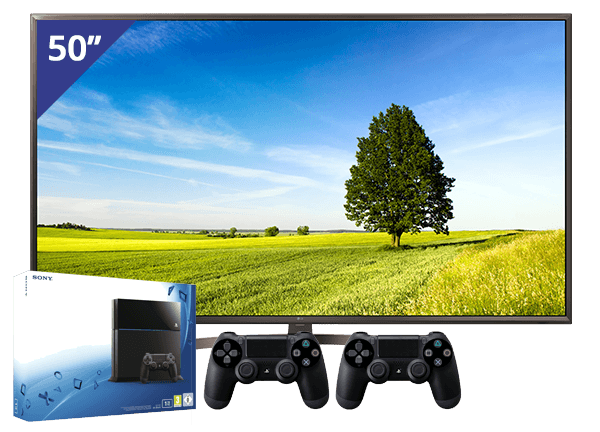 LG 50 TV + PlayStation 4