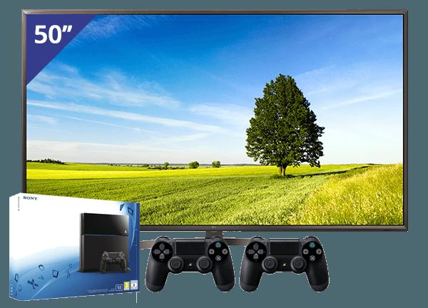 LG 50 inch/127 cm LED TV + PlayStation 4