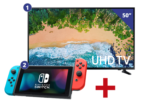 Samsung 50 inch/127 cm LED TV + Nintendo Switch