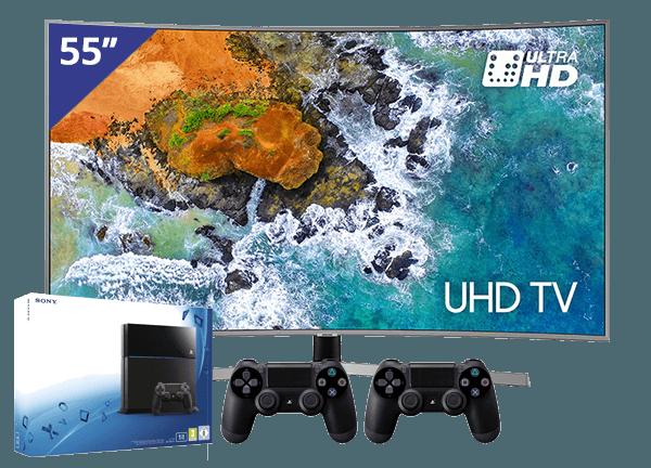 Samsung 55 TV + PlayStation 4