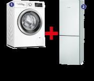 Bosch Wasmachine + Koelvriescombinatie