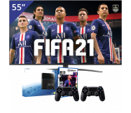 LG 55 inch/140 cm LED TV + Playstation 4