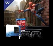 Samsung 55 inch/140 cm UHD 4K TV + Sony PlayStation 4