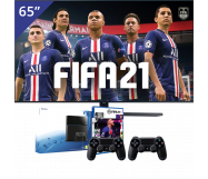 Samsung 65 inch/165 cm UHD 4K TV + Sony PlayStation 4