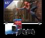 LG 65 inch/165 cm LED TV + Sony Playstation 4