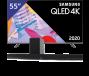 Samsung 55 inch/140 cm QLED TV + Denon Soundbar + subwoofer