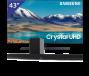 Samsung 43 inch/109 cm UHD 4K TV + Denon Sounbar + subwoofer