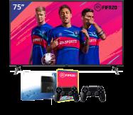 LG 75 inch/191 cm LED TV + Sony Playstation 4
