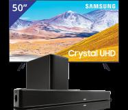 Samsung 50 inch/127 cm UHD 4K TV + Denon Sounbar + subwoofer