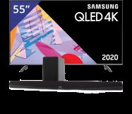Samsung 55 inch/140 cm QLED TV + Denon Sounbar + subwoofer