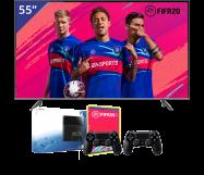 Samsung 55 inch/140 cm QLED TV + Sony PlayStation 4