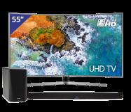 Samsung 55 inch/140 cm Ultra HD Curved TV + HEOS Home Cinema